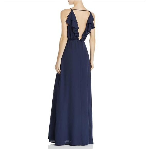 🔥WAYF Ruffled Chiffon Wrap Maxi Dress